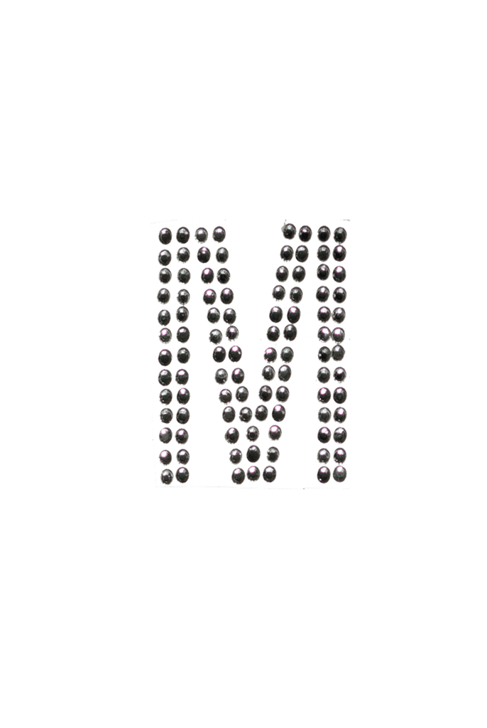 Clear Crystal Block Letter - M