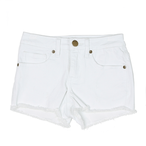 Basic Denim Short -White