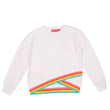 Athletic Criss Cross Sweatshirt- White
