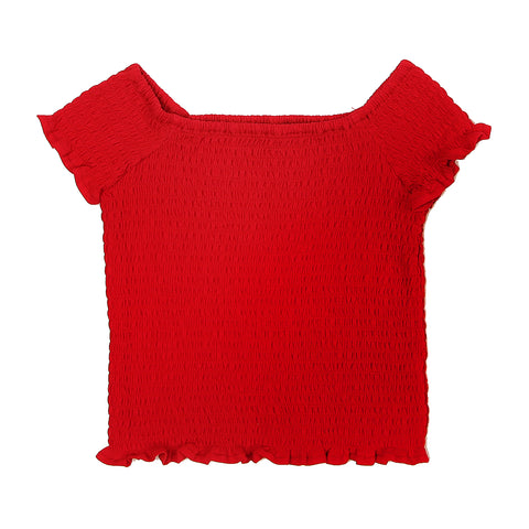 Smock Top - Red