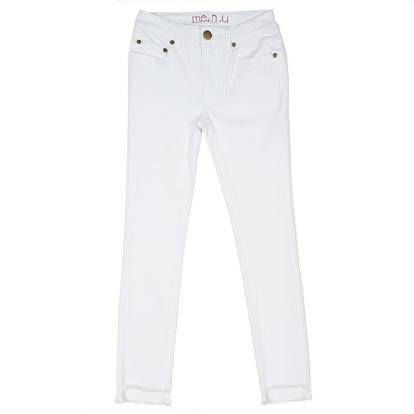 Step Up Hem Jean-White