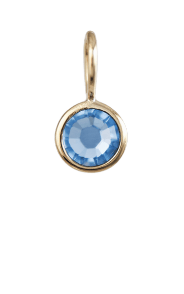 March Birthstone Gold Charm