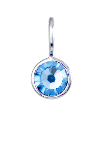 March Birthstone Silver Charm