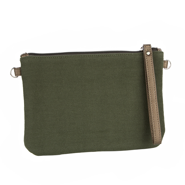 Canvas Crossbody Bag - Olive