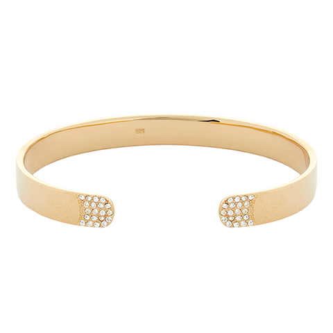 Crystal Trim Bracelet - Gold