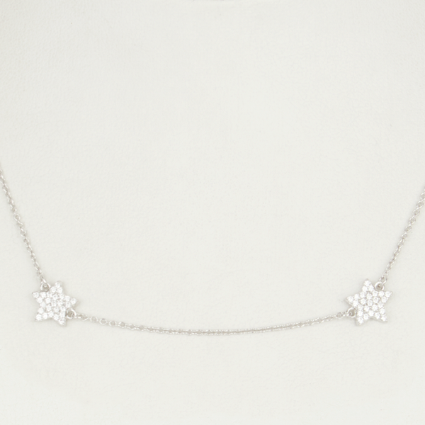 Star By the Yard Necklace - Silver