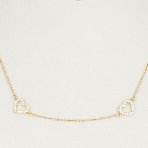 Heart By The Yard Necklace - Gold