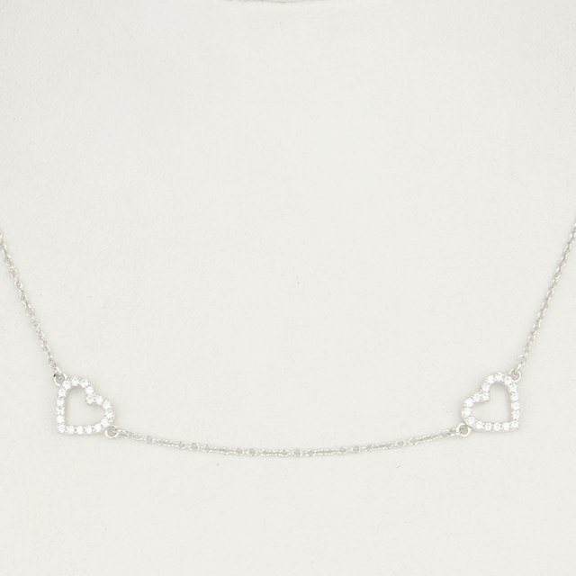 Heart By The Yard Necklace - Silver