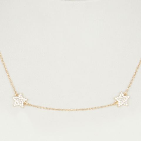 Star By The Yard Necklace - Gold