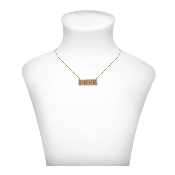 Crystal Love Necklace - Gold