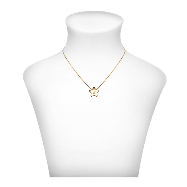 3D Star Necklace - Gold