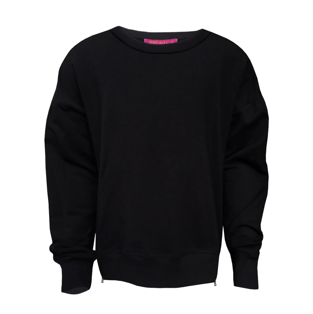 Side Zip Sweatshirt - Black