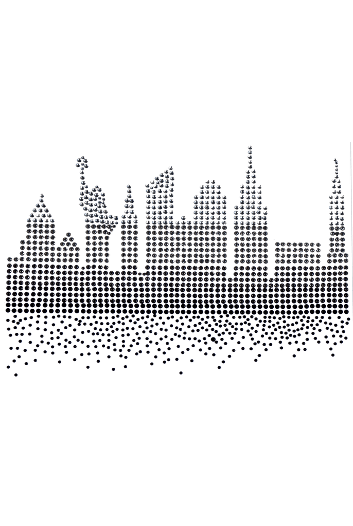 New York Cty Skyline in Crystals