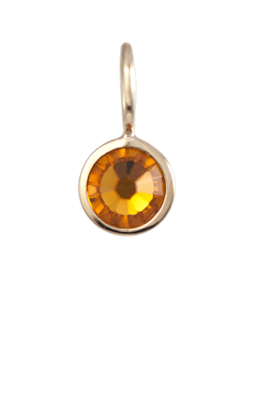 November Birthstone Gold Charm