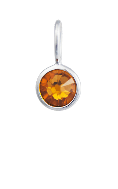 November Birthstone Silver Charm