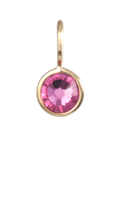 October Birthstone Gold Charm