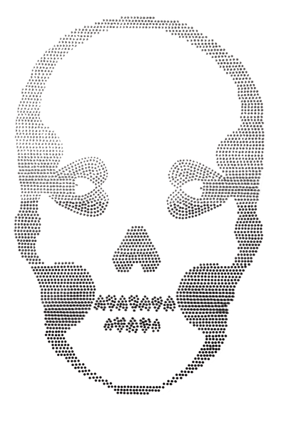 Ombre Skull Black - Large