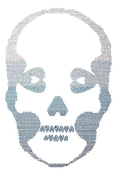 Ombre Skull Blue - Large
