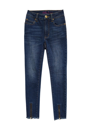 Zip Bottom Jean - Indigo