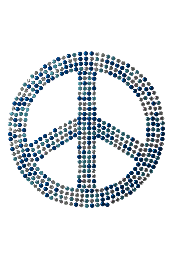 Peace Sign Blue - Large