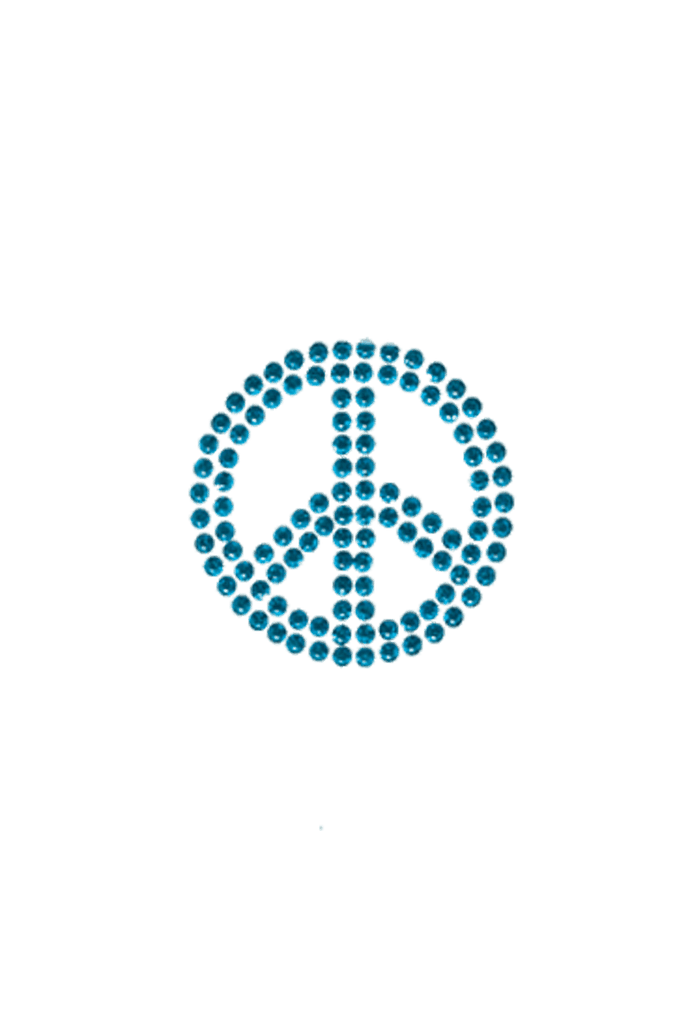 Peace Sign Blue - Small