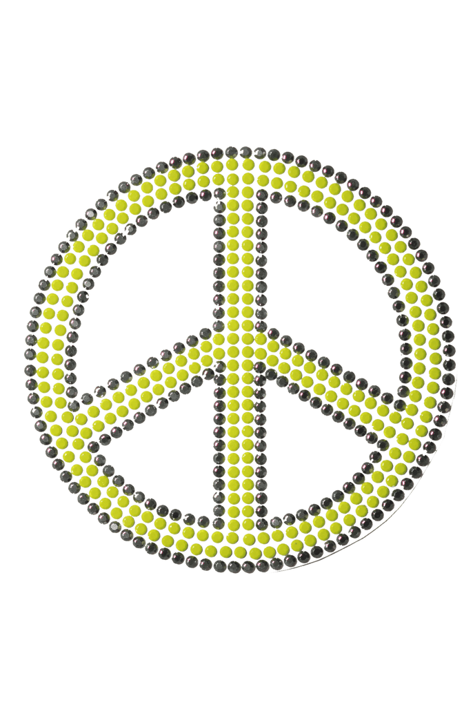 Peace Sign Neo Yellow - Large