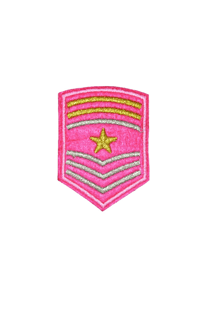 Pink Badge Iron On patch_tag from me.n.u
