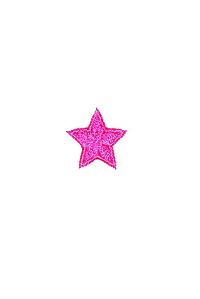 Pink Mini Star Iron On patch_tag from me.n.u