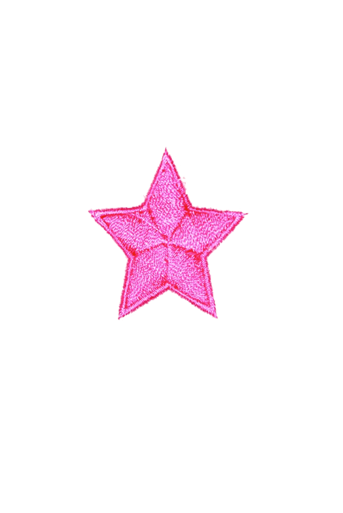 Pink Star Iron On patch_tag from me.n.u