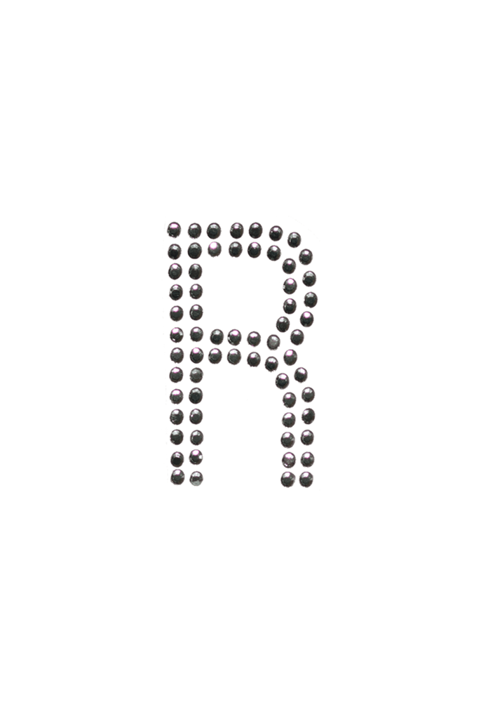 Clear Crystal Block Letter - R