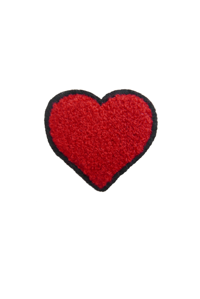 Chenille  Heart - Red