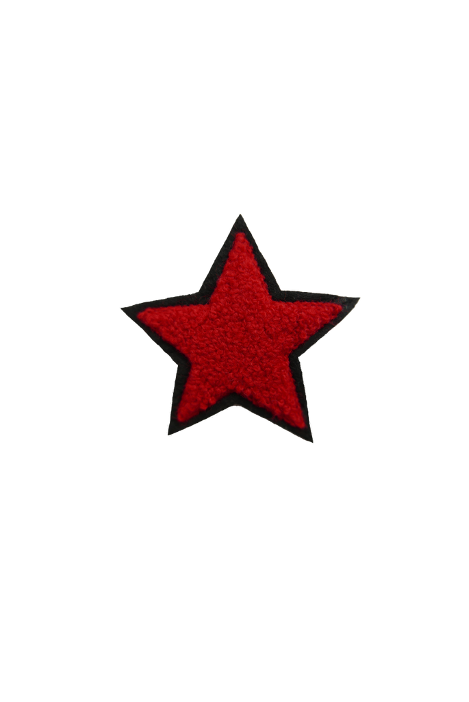 Chenille Star - Red