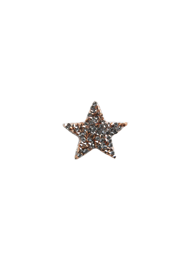 Mini Star Rock Crystal - Black/Rose Gold
