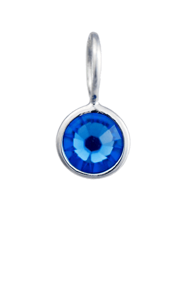 September Birthstone Silver Charm