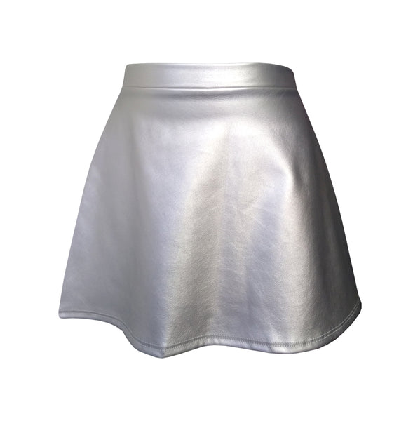 Leather Skirt - Metallic