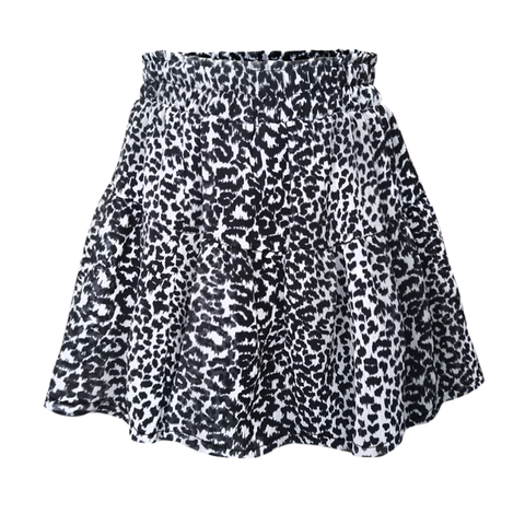 Leopard Tiered Skirt