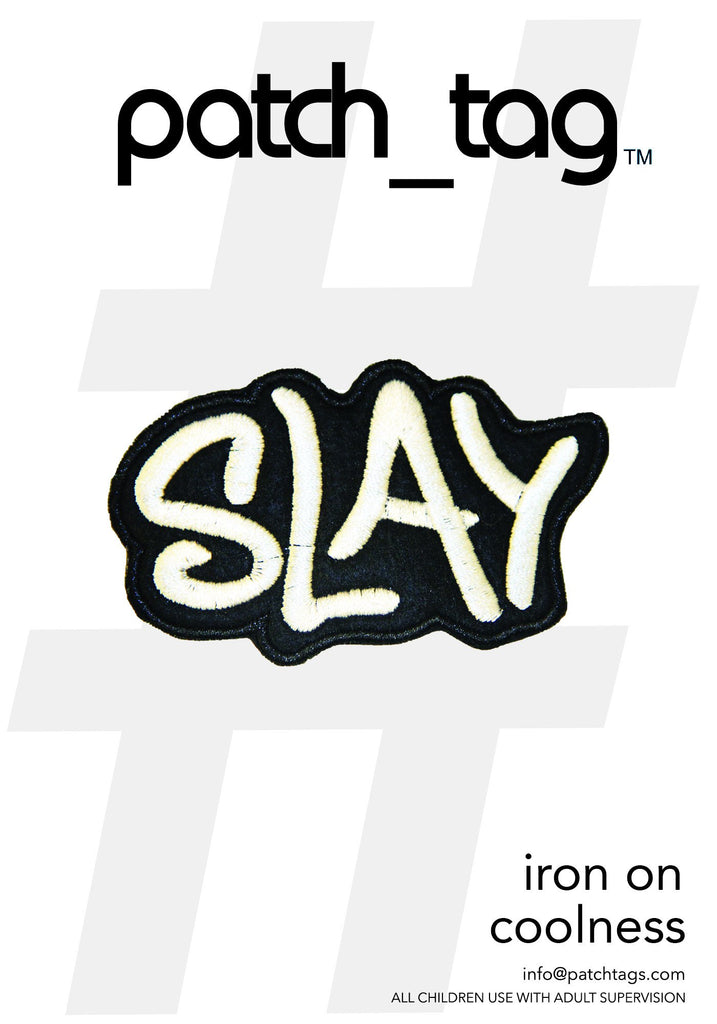 Slay Iron On patch_tag From me.n.u
