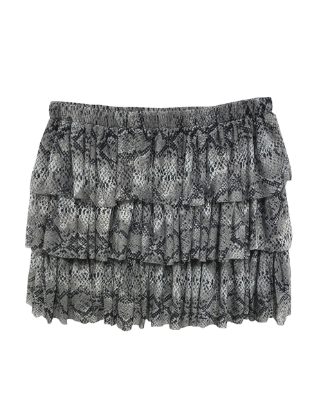 Triple Tiered Skirt - Snakeskin