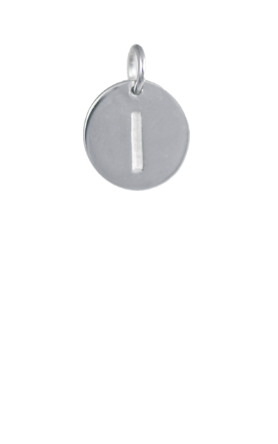 Silver Disc Letter I Initial, Tween Gift Ideas