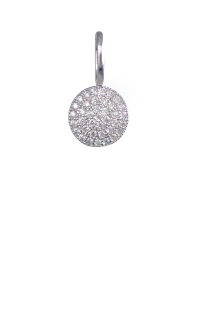 Crystal Silver Charm - Disc