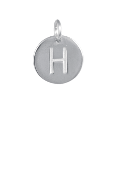 Silver Disc Letter H Initial, Tween Gift Ideas