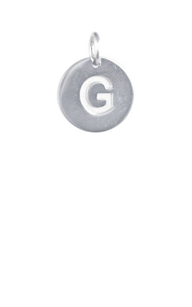 Silver Disc Letter G Initial, Tween Gift Ideas