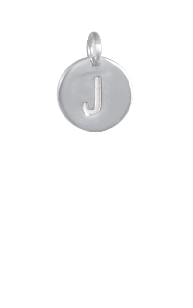 Silver Disc Letter J Initial, Tween Gift Ideas