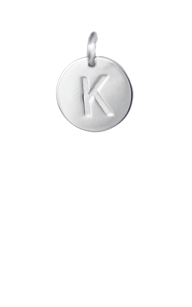 Tween Gift Ideas, Silver Disc Letter K Initial
