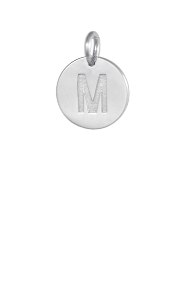 Tween Gift Ideas, Silver Disc Letter M Initial