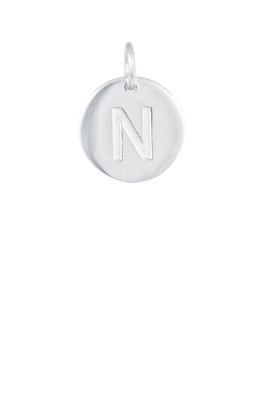 Tween Gift Ideas, Silver Disc Letter N Initial