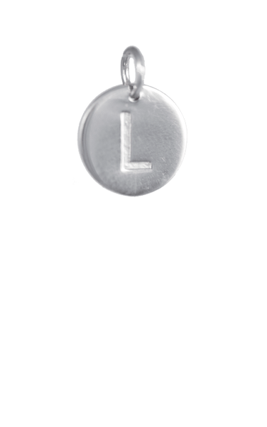 Tween Gift Ideas, Silver Disc Letter L Initial