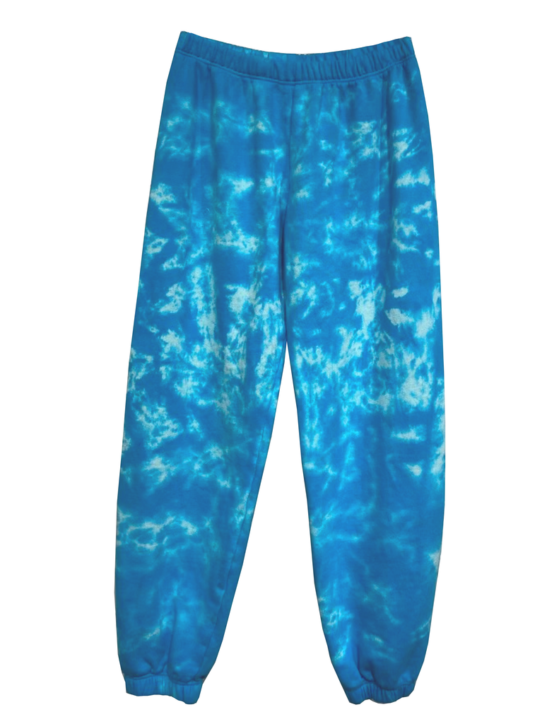 Tie Dye Sweatpant - Blue Cloud