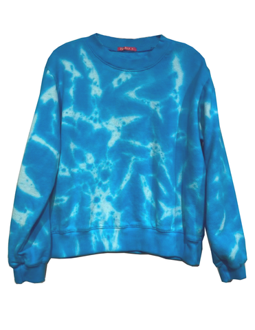 Tie Dye Sweatshirt - Blue Cloud