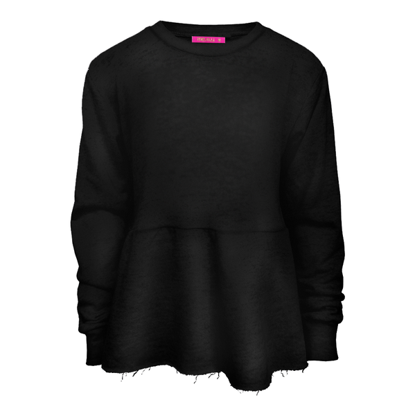 Peplum Sweatshirt - Black